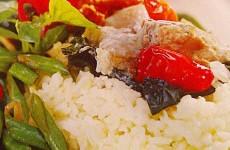 Resep-Nasi-Bakar-Tumis-Ayam-Jamur