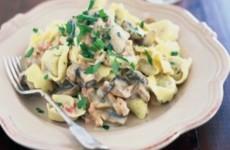 Tortellini With Creamed Mushroom