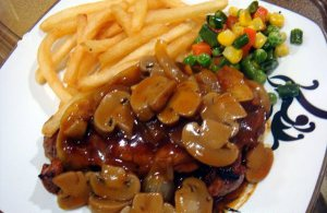 steak ayam saus jamur