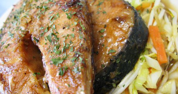 steak salmon teriyaki