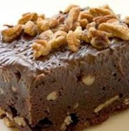 Brownies Panggang Coklat Kacang Mete