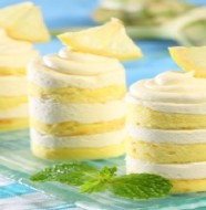 LEMON LAYER CAKE WITH CHEESE